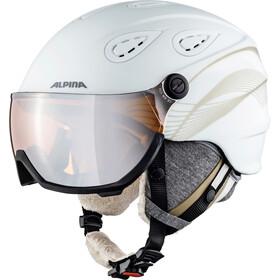 Alpina Grap Visor 2.0 HM Skihjelm, white-prosecco matt